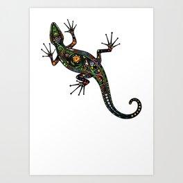 Lézard colors Art Print