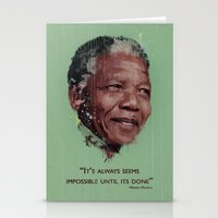 mandela Stationery Cards featuring Nelson Mandela by LightCircle