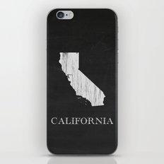 California State Map Chalk Drawing iPhone & iPod Skin