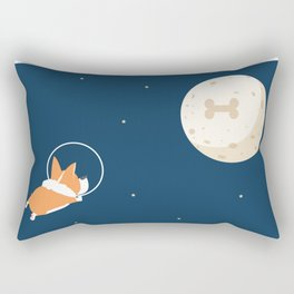 Fly to the moon _ navy blue version Rectangular Pillow