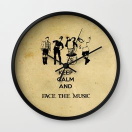 Keep Calm and Carry On: Face The Music Wall Clock