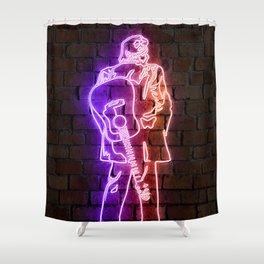 Cash neon art Shower Curtain