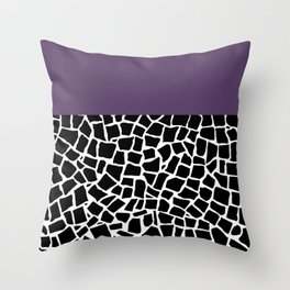 British Mosaic Purple Boarder Throw Pillow