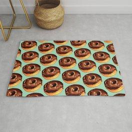 Chocolate Donut Pattern - Teal Rug