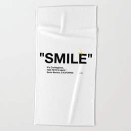 """SMILE"" Beach Towel"