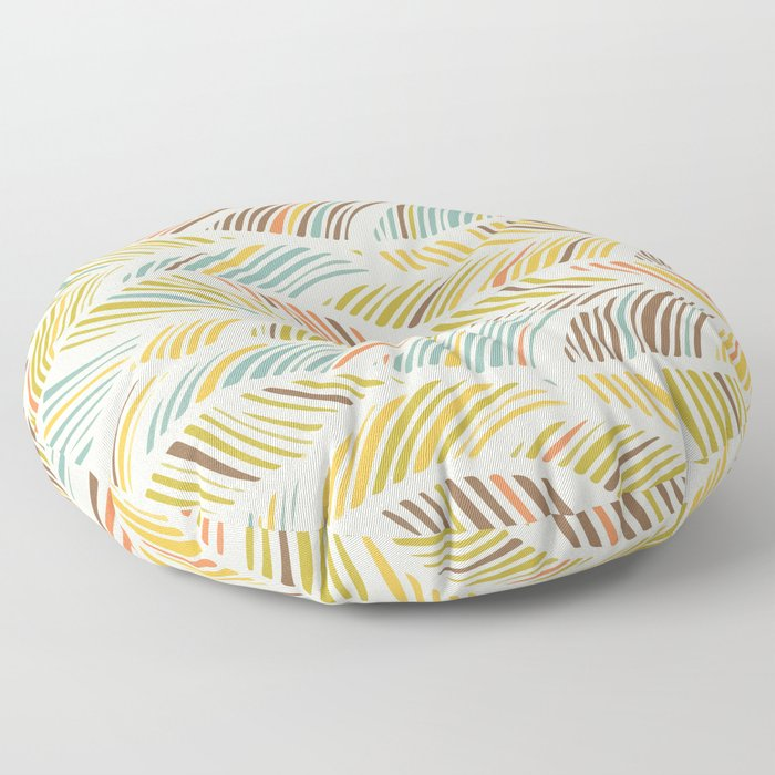 Fine Feather Pattern Floor Pillow