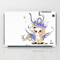 okami iPad Cases featuring Little Cerberus in Okami style by Clgtart
