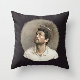 Castiel. White crown. Throw Pillow