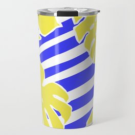 Monstera Leaf - Matisse Inspired Tropical Collage Pattern Travel Mug