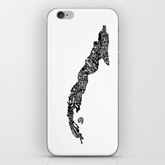 Typographic Cuba iPhone & iPod Skin
