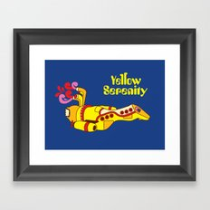 Yellow Serenity Framed Art Print