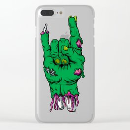 Zombie hand, Clear iPhone Case