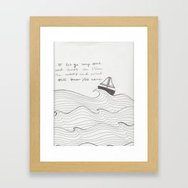 Well with my Soul Framed Art Print
