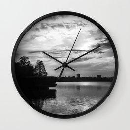 Road trip through E.U. - dusk - Wall Clock