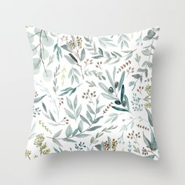 Eucalyptus pattern Throw Pillow