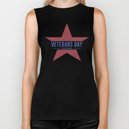 Veterans Day Commemorative Star Design Biker Tank