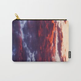 Sunset Clouds Red Blue Yellow Carry-All Pouch