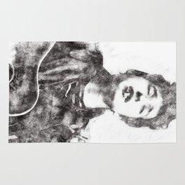 Bob Dylan portrait 01 Rug
