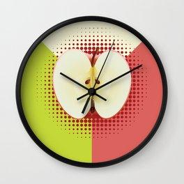 Apple half pop art Wall Clock
