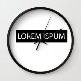 Lorem Ispum Wall Clock