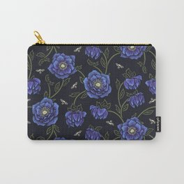 Midnight Hellebore Carry-All Pouch