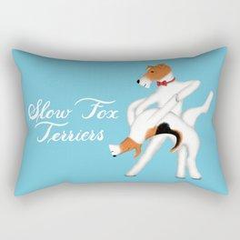 Slow Fox Terriers Rectangular Pillow