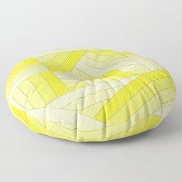 Yellow Stripes Floor Pillow