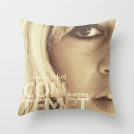 Brigitte Bardot, Contempt, movie poster, Le Mépris, Jean-Luc Godard, Fritz Lang, Throw Pillow