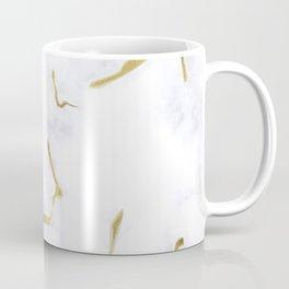 White Gold Marble Background #society6 #decor #buyart #artprint Coffee Mug
