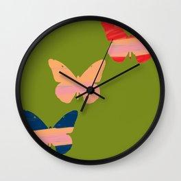 Butterflies 2 Wall Clock