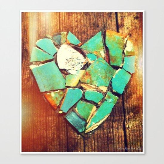 Mosaic Heart Canvas Print