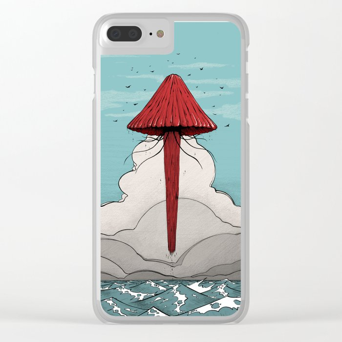 Méduse volante #5 Clear iPhone Case