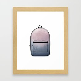 Heard You Like Backpacks Framed Art Print