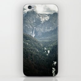 Waterfall in yosemite iPhone Skin