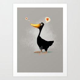Duck and Junebug Art Print