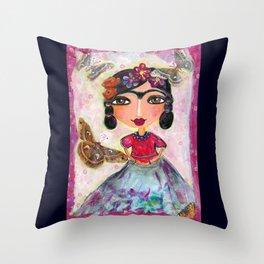 Las Mariposas de Frida Throw Pillow