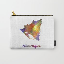 Nicaragua in watercolor Carry-All Pouch