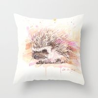"sonic Throw Pillows featuring ""Sonic"" by PaintedBunting"