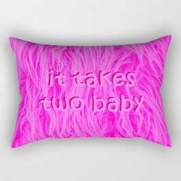 it takes two baby | fluffy Rectangular Pillow