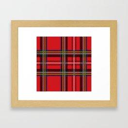 red kilt Framed Art Print