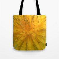 tooth Tote Bags featuring Lion's Tooth by Stevyn Llewellyn