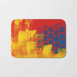 Abstract 1 in Red Yellow and Blue Bath Mat