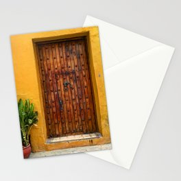 Door of Cartagena Colombia Stationery Cards