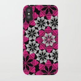 Squiggle pink iPhone Case