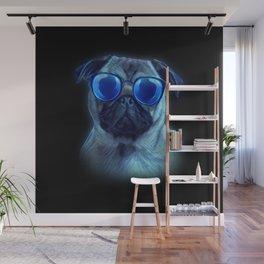Pug Neon Dog Sunglasses - Pug Lover Wall Mural