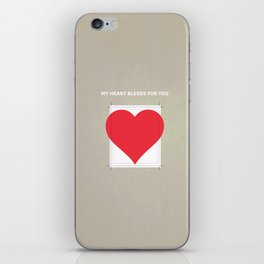 My Heart bleeds for you iPhone Skin