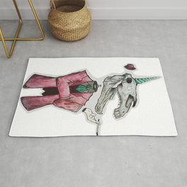Elegant Unicorn Rug