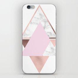 Elegant geometric design iPhone Skin