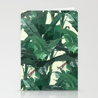 banana leaf Stationery Cards featuring Banana Leaf Pattern 2 by Tamsin Lucie