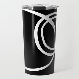 Black and White Circles Abstract Modern Travel Mug